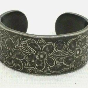 Salisbury Pewter Cuff Bracelet Solid Cast February